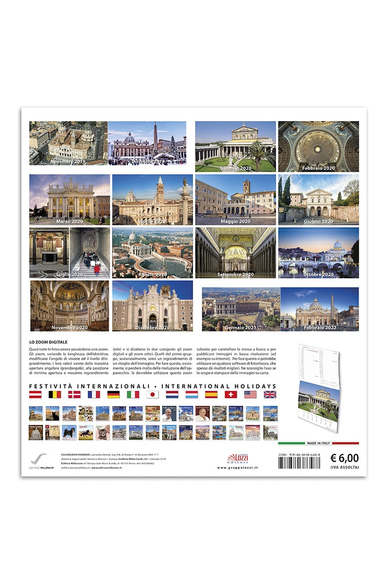 Calendario grande Basiliche di Roma | Editrice Millenium