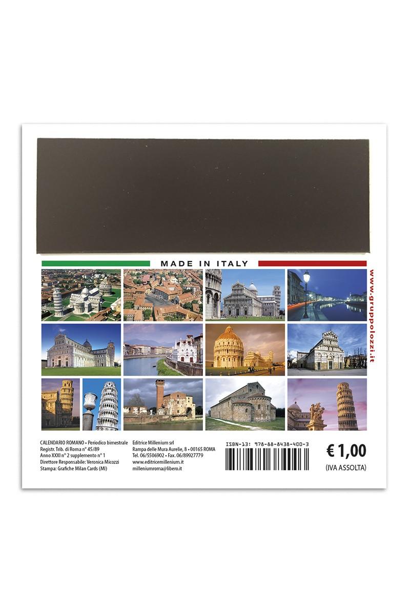 Pisa Calendario.Calendario Magnetico Pisa
