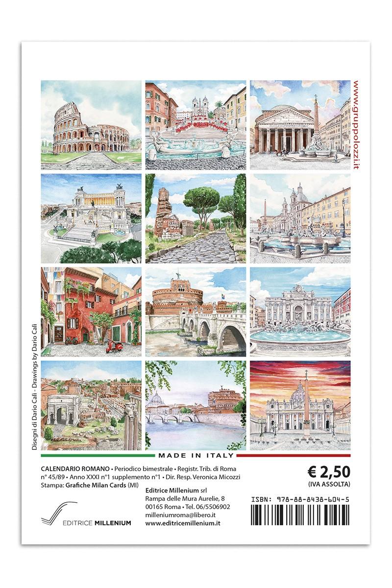 Calendario Traduzione Inglese.Calendario Mini Colosseo Acquerello