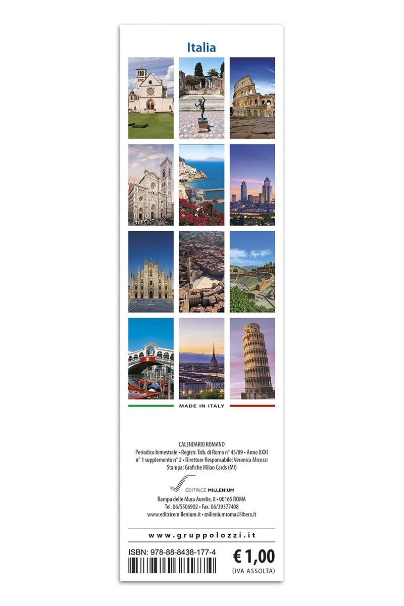 Italia Calendario.Calendario Segnalibro Italia